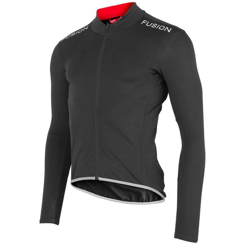 fusion sli cycling jacket unisex black front