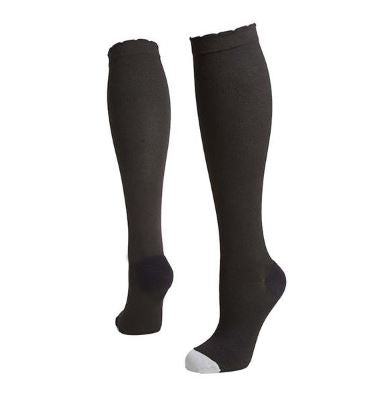 lily trotters compression socks solid black