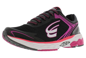 spira aquarius women's running shoe black / coral / white outside