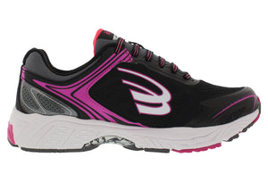 spira aquarius women's running shoe black / coral / white inside