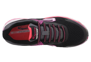 spira aquarius women's running shoe black / coral / white top