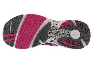 spira aquarius women's running shoe black / coral / white bottom