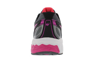 spira aquarius women's running shoe black / coral / white back