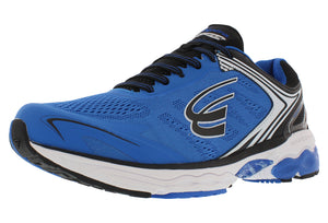 spira aquarius men's running shoe blue / black / white outside