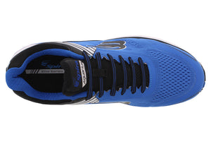 spira aquarius men's running shoe blue / black / white top