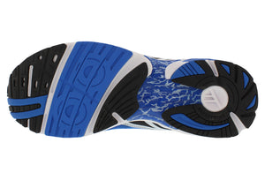 spira aquarius men's running shoe blue / black / white bottom