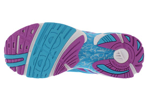 spira aquarius women's running shoe blue / purple / white bottom