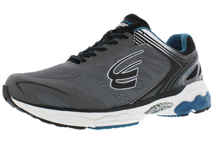 spira aquarius men's running shoe charcoal / blue outside