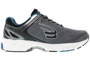 spira aquarius men's running shoe charcoal / blue inside