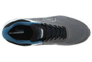 spira aquarius men's running shoe charcoal / blue top