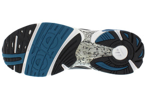 spira aquarius men's running shoe charcoal / blue bottom