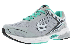 spira aquarius women's running shoe gray charcoal mint outside