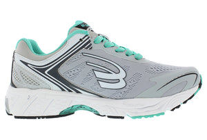 spira aquarius women's running shoe gray charcoal mint inside