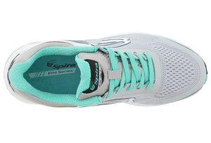 spira aquarius women's running shoe gray charcoal mint top