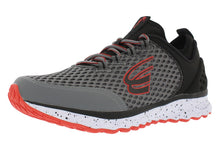 Load image into Gallery viewer, spira phoenix men's running shoe charcoal / black / red outside