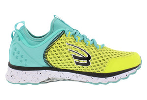 spira phoenix women's running shoe yellow teal black inside