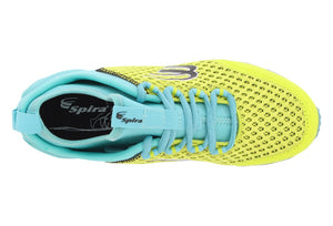 spira phoenix women's running shoe yellow teal black top