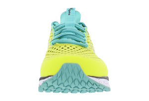 spira phoenix women's running shoe yellow teal black front