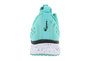 spira phoenix women's running shoe yellow teal black back