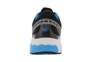 spira scorpius ii men's running shoe blue black white back