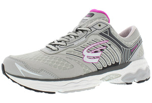 spira scorpius II women's running shoe gray / charcoal / fuschia outside