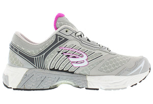 spira scorpius II women's running shoe gray / charcoal / fuschia inside