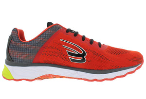 spira vento mens running shoe red/charcoal/black right side