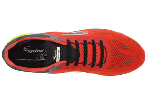 spira vento mens running shoe red/charcoal/black top