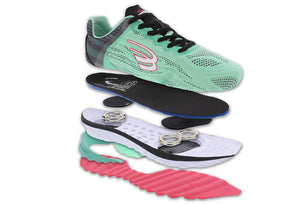 spira vento running shoe mint/charcoal/coal expanded view