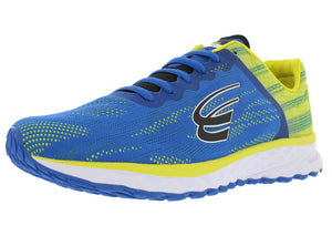 spira vento mens running shoe blue / yellow / black outside