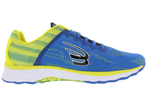 spira vento mens running shoe blue / yellow / black inside