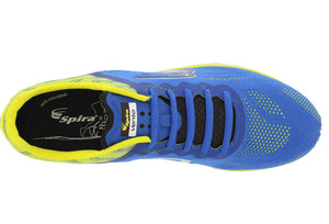 spira vento mens running shoe blue / yellow / black top