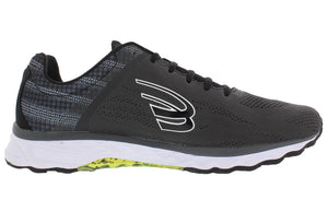 spira vento men's running shoe charcoal / black / white inside