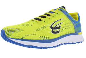 spira vento men's running shoe yellow / blue / black outside