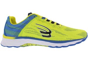 spira vento men's running shoe yellow / blue / black inside