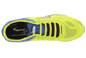 spira vento men's running shoe yellow / blue / black top