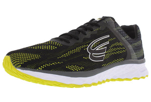 spira vento men's running shoe black / neon / white outside