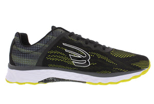 spira vento men's running shoe black / neon / white inside