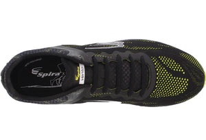 spira vento men's running shoe black / neon / white top
