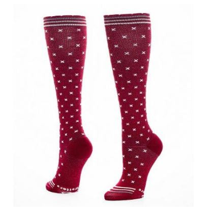 lily trotters stitches compression socks brick