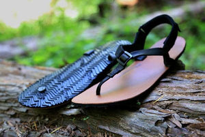 shamma sandals running leather running sandals on log
