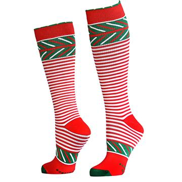 Lily Trotters Smitten Holiday Running Compression Socks Womens 15-20 mmHg