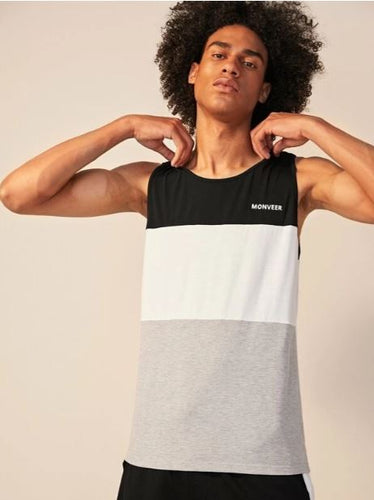Shein Graphic Block Run Tank Men's | Run Uncommon