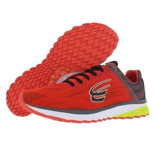 spira vento mens running shoe red/charcoal/black