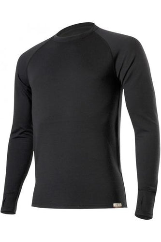 lasting wity 260 merino wool performance running long sleeve men's black