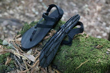 Load image into Gallery viewer, shamma sandals running performance sandals on mossy rock