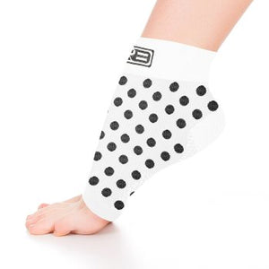 go2 ankle compression sleeve white with black dots