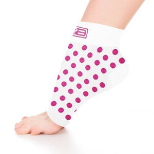go2 ankle compression sleeve white with pink dots