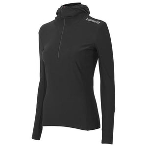 fusion women's c3 long sleeve performance running hoodie black