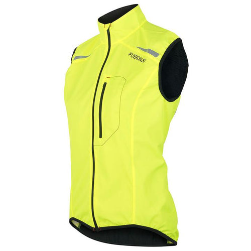fusion women's s1 performance running vest yellow front